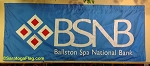 .BALLSTON SPA NATIONAL BANK PARADE BANNER- Applique Stitched Nylon