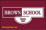 .BROWN SCHOOL- BANNER- Applique Stitched Nylon