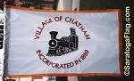 .VILLAGE OF CHATHAM- APPLIQUE Stitched Flag