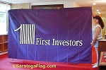 .FIRST INVESTORS-Custom WALL BANNER- Applique Stitched 6x10ft