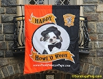.HALLOWEEN Gatehouse BANNER- Applique Stitched