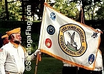 .SARATOGA NATIONAL CEMETERY HONOR GUARD- APPLIQUE Stitched Flag