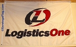 .LOGISTICS ONE Flag- Custom APPLIQUE Stitched Nylon