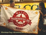 .MACYS THANKSGIVING DAY PARADE FLAG- Applique Stitched Nylon