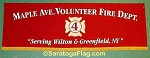 .MAPLE AVE VOLUNTEER FIRE DEPT- PARADE BANNER