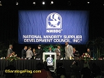 .NMSDC Logo BACKDROP BANNER - Applique Stitched Nylon