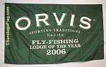 .ORVIS Fly Fishing- APPLIQUE Stitched Flag