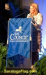 .COUNCIL of SCHOOL SUPERINTENDENTS- PODIUM BANNER - Applique Stitch