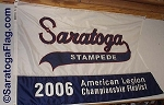 .SARATOGA STAMPEDE- APPLIQUE Stitched Flag