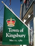 .Town Of KINGSBURY VINYL BANNERS- 5FT x 3FT Angle-Top Double Sided