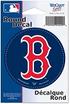 BOSTON RED SOX- DECAL- Round 3 inch diameter