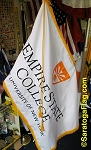 .EMPIRE STATE COLLEGE- APPLIQUE Stitched Presentation Flag