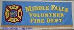 .MIDDLE FALLS VOLUNTEER FIRE DEPT- PARADE BANNER