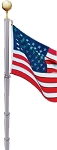 FLAGPOLE: Telescoping USA Kit, 21 ft, White-SOLD OUT