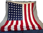 48 Star USA Flag- 5x9.5ft Cotton- Authentic - Vintage-SOLD