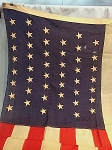 46 Star USA Flag- 5x9.5ft WOOL- Authentic - RARE- Vintage-SOLD