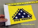 Motorcycle Flag- Honor Remember Our Heroes