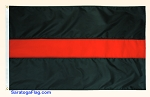 Fire Thin RED LINE Flag