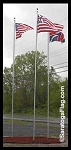.FLAGPOLE: In-Ground USA Kit: 2 inch diameter x 20ft