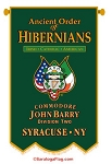 ...Custom Church BANNER- Ancient Order of Hibernians- Vertical Procession