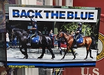 LAWN SIGNS- #BackTheBlue-Horses- 12 signs per case