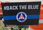 LAWN SIGNS- CIVIL DEFENSE #BackTheBlue- 12 signs per case