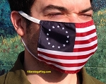 4a) Novelty FACE MASKS - Betsy Ross Flag