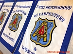 .CARPENTERS UNION  - Embroidered Banner