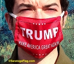4h) Novelty FACE MASKS -TRUMP MAGA Flag