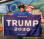 ...TRUMP- 2020 FLAG- Blue