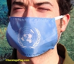 4f) Novelty FACE MASKS -U.N. Flag - United Nations