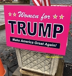 LAWN SIGNS- WOMEN FOR TRUMP- 12 signs per case