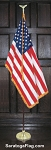 .Indoor Presentation Kit- USA Flag - PRESIDENTIAL_7ft_8ft_9ft Pole