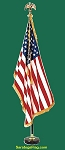 .Indoor Presentation Kit- USA Flag- MAHOGANY 8ft Pole & Base