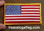 EMBROIDERED PATCH: USA FLAG - Left Shoulder