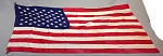 50 Star USA Flag- 3x5ft Satin Fabric- Authentic - Vintage