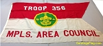 BOY SCOUT TROOP 356 Flag- Wool USED Vintage