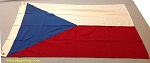 CZECHOSLOVAKIA- 3x5ft Flag Wool Vintage