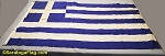 GREECE- 4x6ft Cotton Flag - Used Vintage