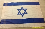 ISRAEL- 2x3ft Flag Cotton Print- Used Vintage
