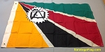 MOZAMBIQUE- 3x4ft Flag Wool Vintage
