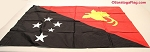 PAPUA NEW GUINEA- 3x4ft Flag Rayon Vintage