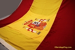 SPAIN (with seal)- 6x9ft Flag WOOL Vintage