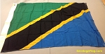 TANZANIA- 3x4ft Applique Wool Flag Vintage