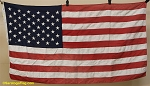 50 Star USA Flag- 3x5ft Poly- Authentic - Vintage