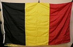 BELGIUM FLAG- 5x8ft Nylon- VINTAGE