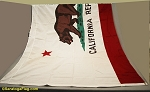 CALIFORNIA FLAG- 6x10ft Cotton - Vintage-SOLD