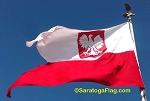 POLAND FLAG (with Eagle seal) - Ensign 6ft x 9ft Burgee
