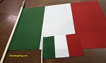 ITALY FLAG- COTTON- Handheld Stick Flags