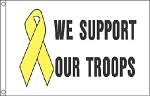 SUPPORT TROOPS FLAG - White